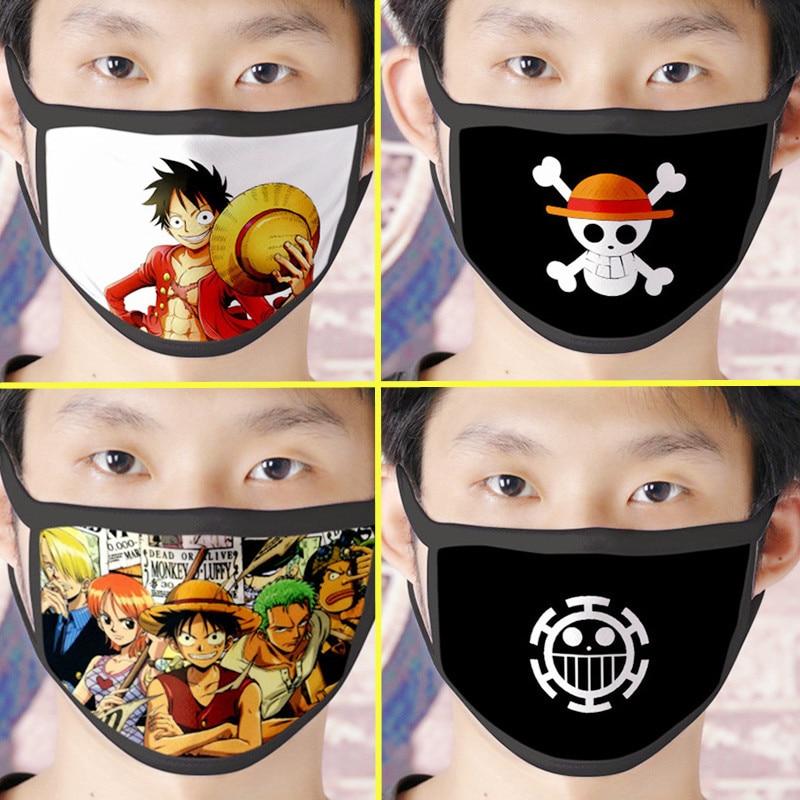 Anime ONE PIECE Monkey D. Luffy Pirate Mask Cosplay Costume Accessories Unisex Vinsmoke Sanji Skull Masks