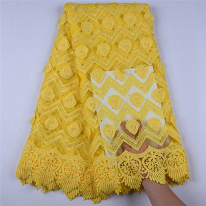Image 4 - Latest African Milk Silk Applique Lace Fabric High Quality French Mesh Lace Fabric With Stones Milk Silk For Nigerian DressF1577