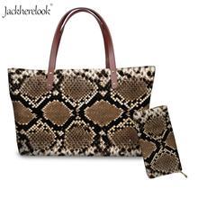 Jackherelook 2 шт питон/сумка через плечо с леопардовым принтом и кошельком кожа животных/мех печать ручная сумка для женский кожаный кошелёк женская сумка для монет