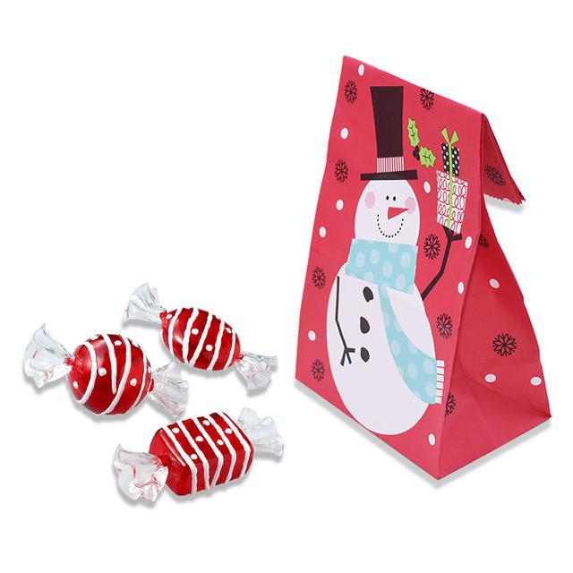 Christmas Patterned Bags Set 10 Pcs