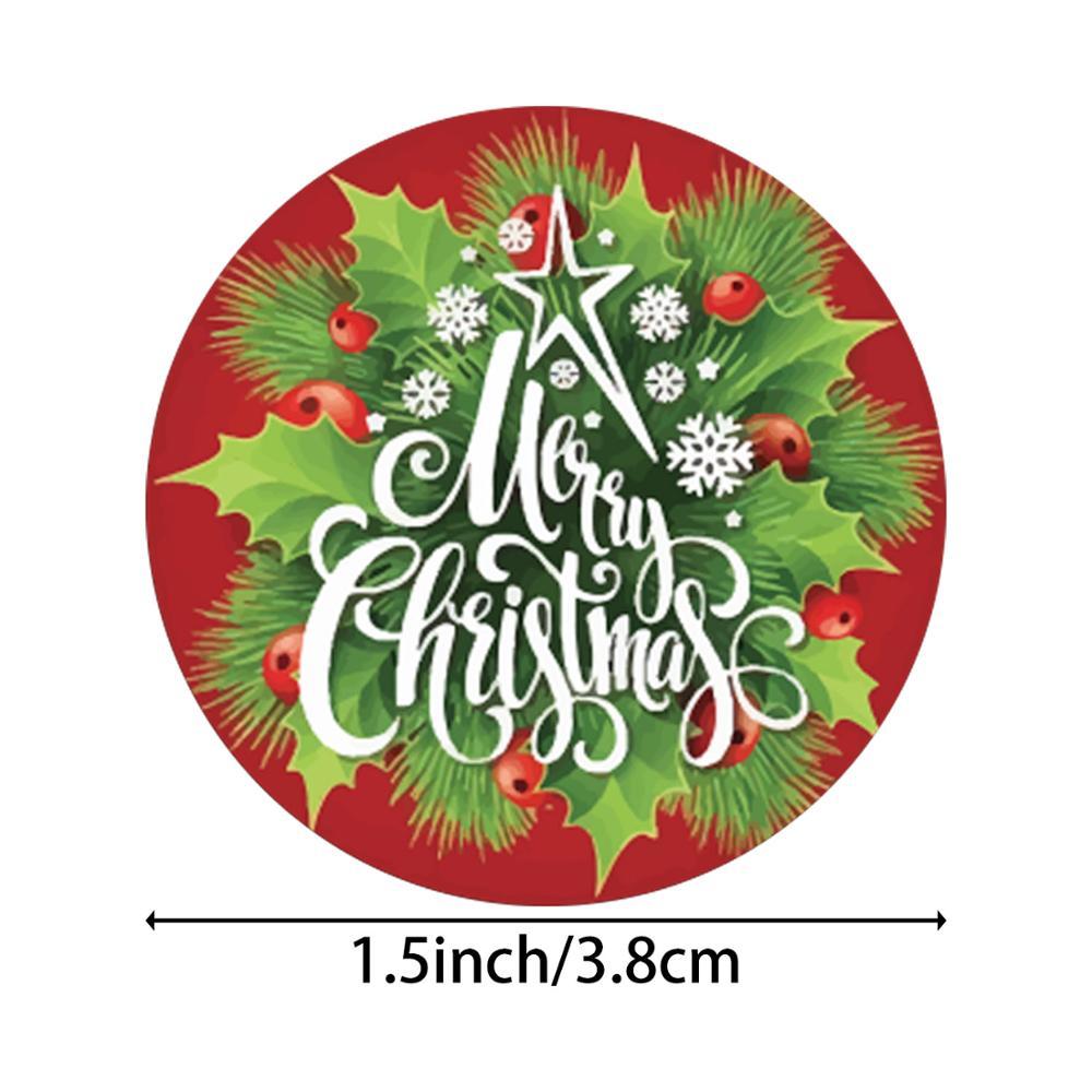 Купить 8 видов конструкций рождественская наклейка «спасибо» санта