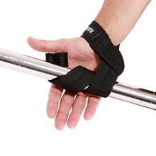 1 Pair Men Weightlifting Hand Belt Anti-slip Sport Fitness Wrist Wraps Straps Gy