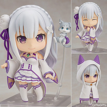 #751 Emilia Re Zero Anime Girl Figure Action Toys Transformer 3 Faces 2 Heads with Accessories PVC Movable Figurine #663 Rem