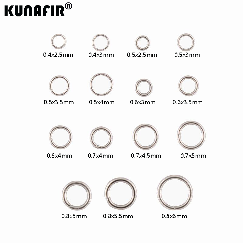 0.4mm-0.8mm Steel Wire Stainless Steel Jump Rings 200pcs -1000pcs DIY Accessories Necklace Chains Parts