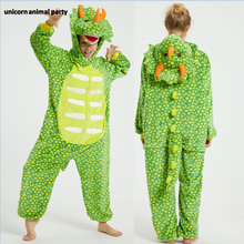 Kigurumi Onesies Cosplay halloween green triangle dragon Men women Christmas Party Pajamas Pyjamas costumes carnival costume
