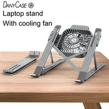 Foldable Laptop tablet Stand With Cooling Fan Heat Dissipation For Desktop MacBook Air Pro Stand Notebook Holder HP DELL Cooler