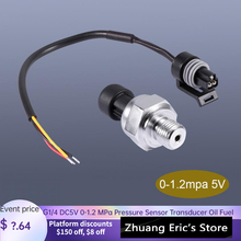 Mpa Transducer Pressure-Sensor with 19cm-Cable Oil-Fuel Diesel Gas-Water 0-1.2 G1/4 DC5V
