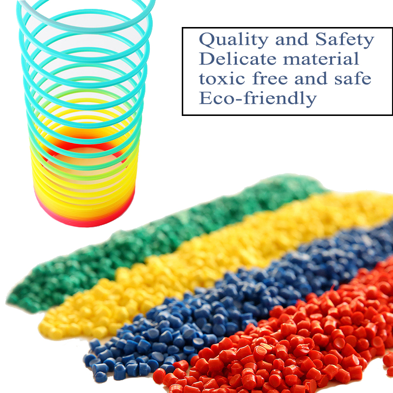 Rainbow Spring Coil Toys Plastic Folding Spring Coil Sports Game Child Funny Fashion Educational Creative Toys