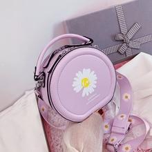 цена на Fashion Small daisy Shoulder Bag High Quality Crossbody Bags Wide Strap Tote bag Female Round Handbag 2020 new bolsos para mujer
