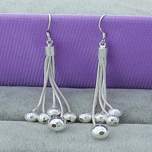 New arrival Silver 925 Female Models Long Paragraph Five Beads Earrings Elegant Fashion Jewelry Lovely Drop For Women
