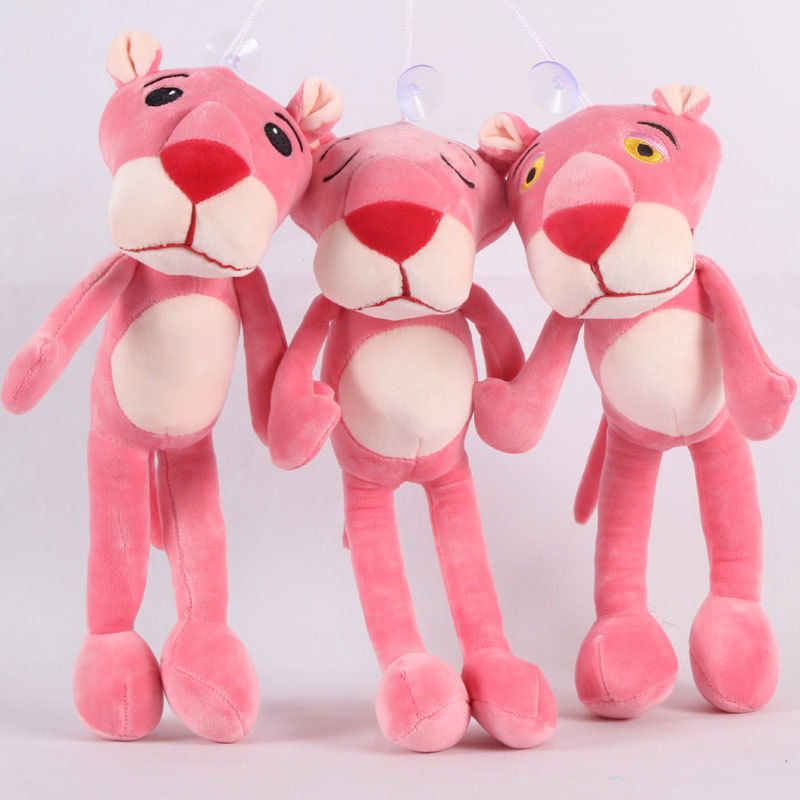 Skyleshine Baby Toys Plaything Cute Naughty Pink Panther Plush Stuffed Doll Animal Toy Home Decor