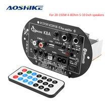 Amplifier Subwoofer Sound-System Bluetooth Theater AOSHIKE Car-Power 24V 12V 220V Home