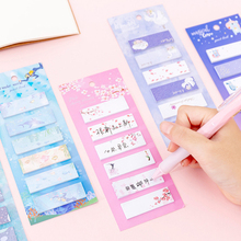 120pcs/pack ins Kawaii Creative Girl Heart Six Sticky Note Memo Stickers Study Office Supplies Notes Gift