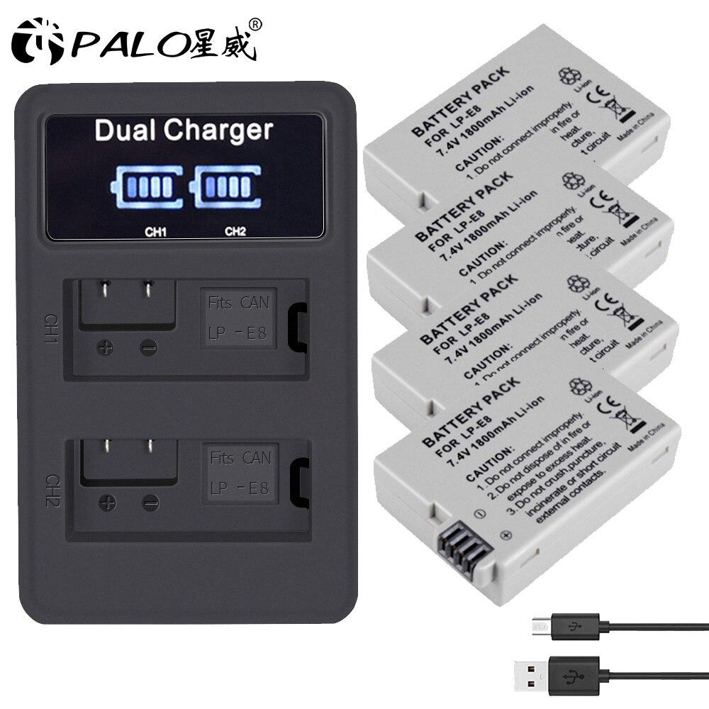 PALO LPE8 Battery Pack LP-E8 Bateria LP E8 For Canon 550D 600D 650D 700D X4 X5 X6i X7i T2i T3i T4i T5i DSLR Camera 0.11
