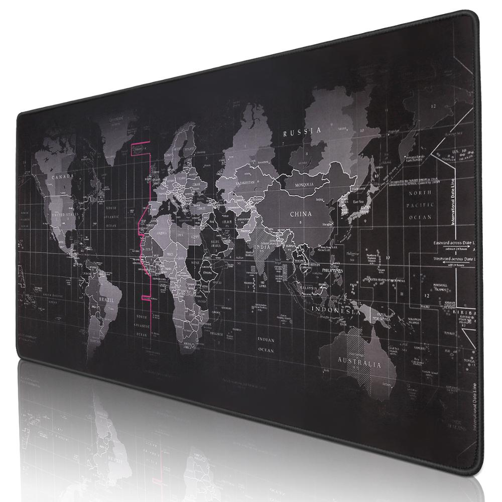 Gaming Mouse Pad Large Mouse Pad Gamer World Map Computer Mousepad <font><b>900x400</b></font> Big Mouse Mat XXL Mause Pad Laptop Keyboard Desk Mat image