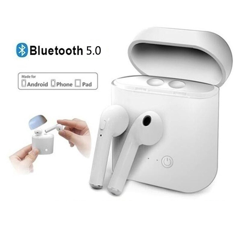 Headphone I7S <font><b>TWS</b></font> Bluetooth <font><b>5</b></font> 0 Earphone Wireless Headset Stereo Earbuds with Charging Box for All Bluetooth Tablet Smart Phone image