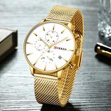 CURREN Watches Mens 2019 Luxury Brand Men Military Sport Quartz Clock Chronograph Sporty Wristwatch Casual Business Watch Date