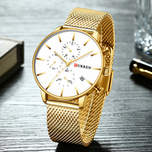 CURREN montres hommes 2019 marque de luxe hommes militaire Sport Quartz horloge chronographe Sport montre bracelet décontracté affaires montre Date