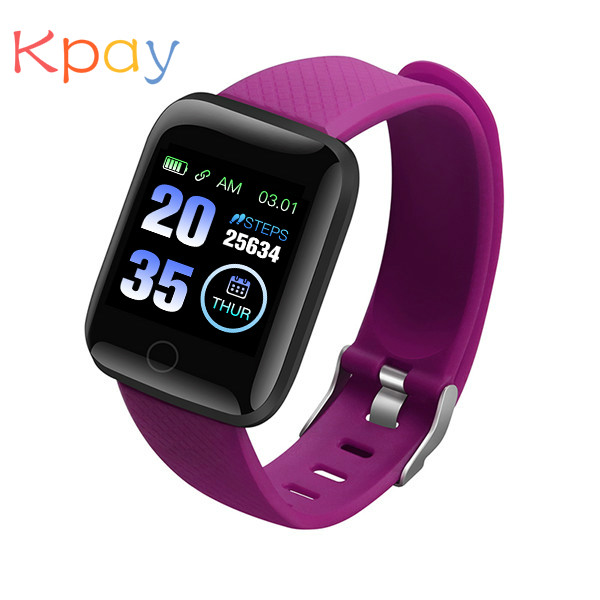 Kpay Smart Watch 116 Plus Wristband Fitness Blood Pressure Heart Rate Android Pedometer D13 Waterproof Sports Smart Watch Band