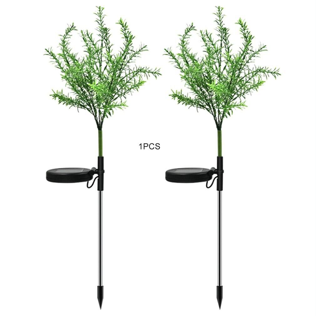 שמש מופעל 15 LED אור סימולציה חג המולד סניף עץ עבור גן נוף קרקע להכניס דשא צבעוני אור