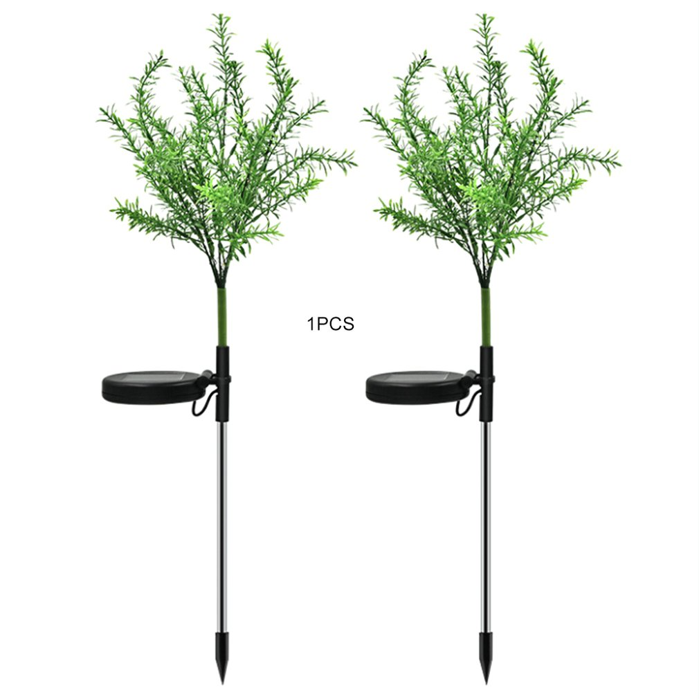 Solar Powered 15 LED Light Simulation Christmas Branch Tree For Garden Landscape Ground Insert Lawn Colorful Light