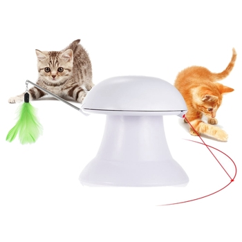 SZS Hot Pet Toy,Pat Interactive Toys,2 in 1 Auto Rotating Light Chaser Toy and Interactive Feather Toy,Pet Entertainment Intelli фото