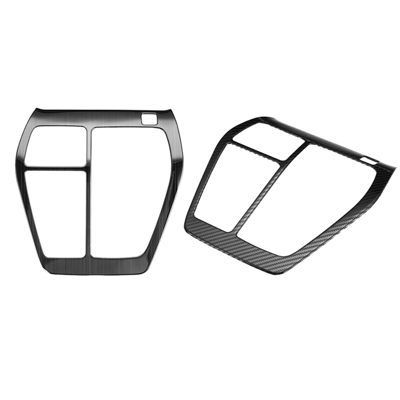 Car AT Gearbox Cover Trim Car Console Ring Garnish Stainless Steel Gear Shift Panel For Toyota Rav4 <font><b>Rav</b></font> <font><b>4</b></font> <font><b>2019</b></font> 2020 Carbon Fiber image