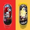 Новинка 2020, стильные электронные часы-браслет для пары, Мультяшные светодиодные спортивные часы, модные детские часы для девочек и мальчико...