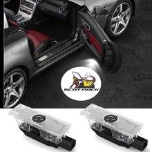 2 4 pcs Car Door LED Light For Dodge Challenger Demon Scat Pack Charger Badge Emblem Projector Shadow Ghost Lamp Accessories