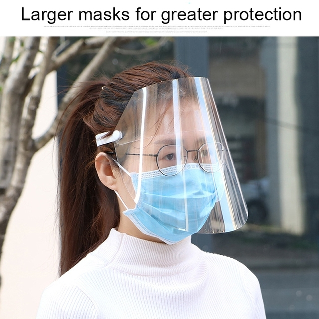 Protective Full Face Mask PET Anti-Saliva Splash Goggles Anti-Spitting Anti-Fog Face Shields Mask Protect Yourself From Virus 4