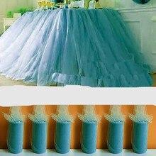 1 предмет, новинка, разноцветная юбка-пачка, Тюлевая скатерть для свадебной вечеринки, Тюлевая юбка-пачка, Настольная юбка, столовая посуда, одежда для душа для малышей, 8P