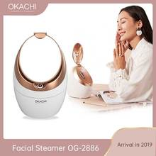 Facial Steamer For Face Beauty Salon Personal Sauna SPA Nano Ionic Face Mist Sprayer Barrel Skin Pores Cleaner OKACHI GLIYA