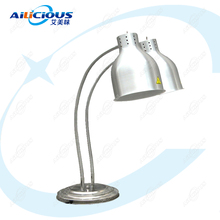 DW1/DW2 Electric Food Warming Lamp Buffet Equipment 220V 110V Stainless Steel dz 2 warming lamp 2 head lamp hotel buffet professional heating machine