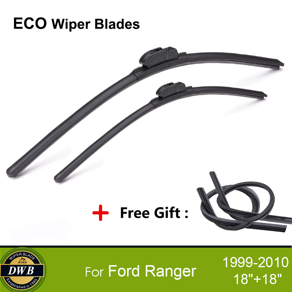 """Pour FORD-Ranger Pick Up 1999-2010 FRONT WIPER BLADES uniblade 18/"""" 18/"""""""