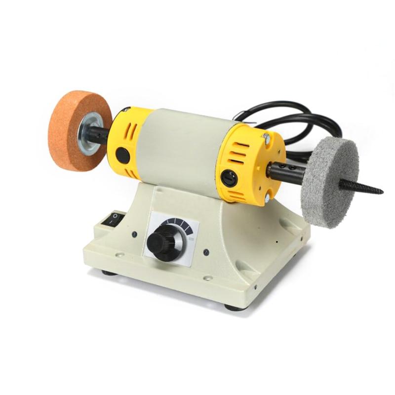 Jade Jewel Polishing Machine Small Table Mill Adjustable Speed Motor Tool Lathe Bench Grinder Kit For Jewelry Dental Polisher