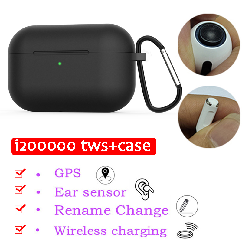 Pop-ups tws i1200000 <font><b>GPS</b></font> Rename 1:1 Touch Control in-ear Sensor earbuds Wireless Charge Bluetooth Earphone for phone + case 2in1 image