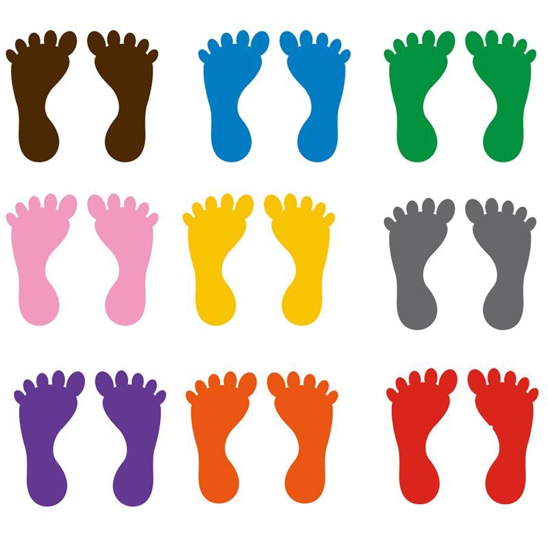 9 Pairs Kindergarten Footprints Stickers Small Ankles Floor Stickers Waterproof Adhesive Floor Bathtub Sticker Ground Stickers|Wall Stickers|   - AliExpress