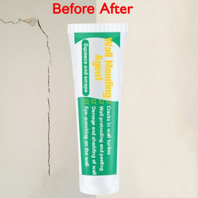30g/130g Useful Mould Proof Wall Mending Agent Wall Repair Cream Wall Crack Nail Repair Quick-drying Patch Restore