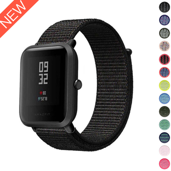20mm Nylon Loop Band For Amazfit Bip Strap band Replace for Xiaomi Huami Bracelet Woven Amazifit