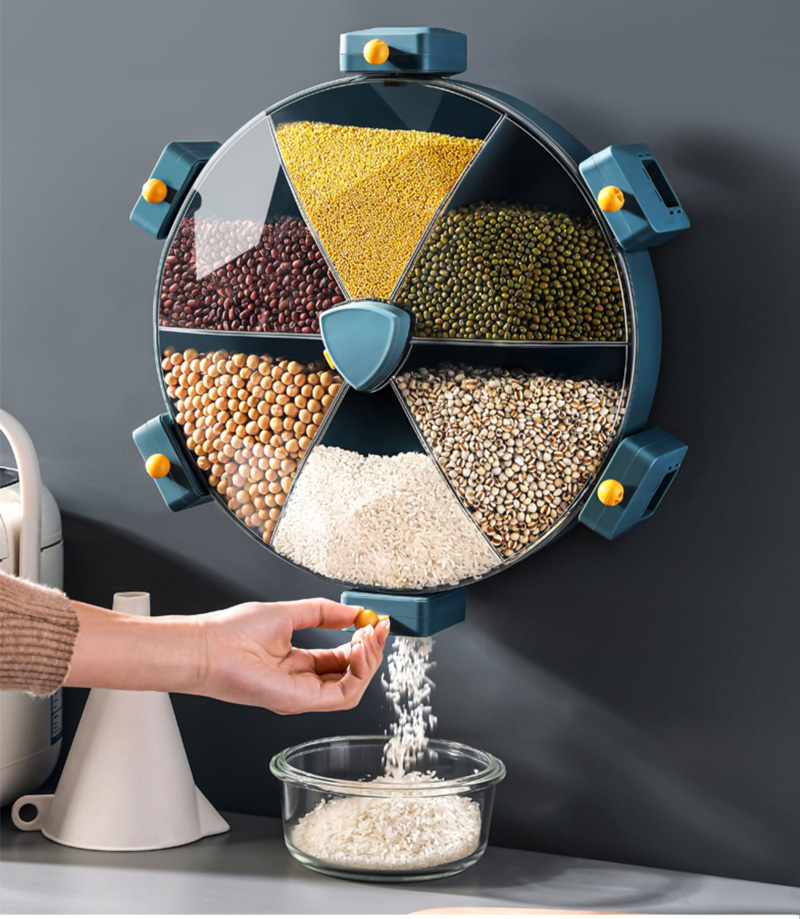Cart Wheel Cereal Dispenser