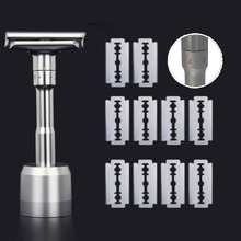 Safety Razor For Men Barber Straight Razors Men's Shaving Face Razor Blades Shaving Machine With Base Replaceable Shaver Blades