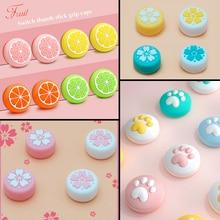 Pink Sakura Cat Silicone Analog Thumb Stick Grips Caps for Nintend Switch/LITE NS JoyCon Controller Sticks Cap for Joy Con Cover