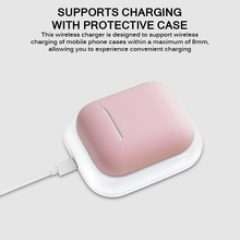 2 In 1 Wireless Earphones Charger For AirPods Smartphones For IPhone11 Pro For Huawei Mate30 30Pro 30RSFast Charging Station cheap powstro Plastic Desktop Pad Used With Earphone Used With Phone Lightning VCCI With Holder