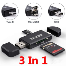 SD Card Reader USB C Card Reader 3 In 1 USB 2.0 TF/Mirco SD