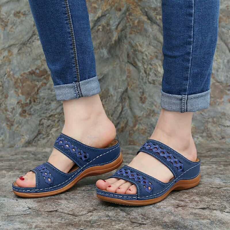 Summer Sandals Women Shoes 2020 Solid Comfortable Basic Ladies Shoes Women Sandals Casual Slippers Female Wedges Beach Shoes