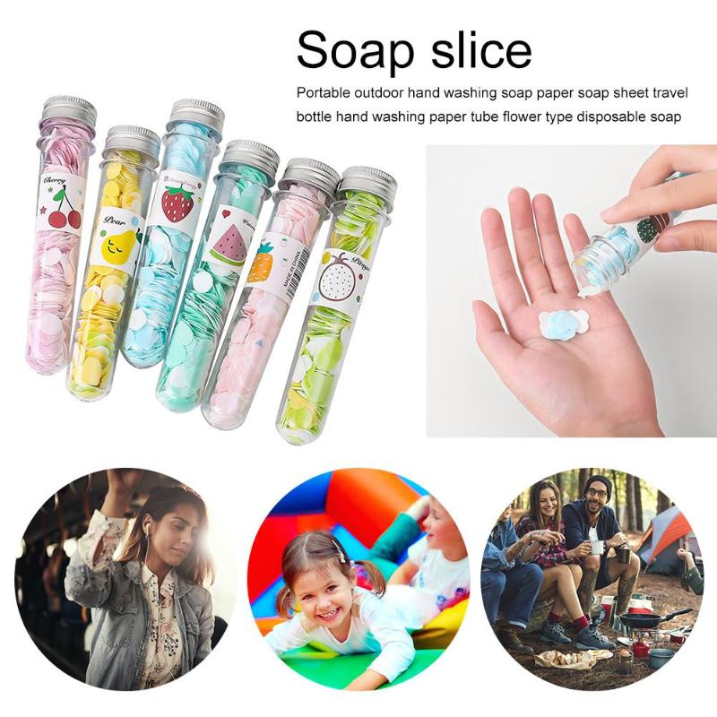 Portable Bath Soap Slice Test Tube Travel Mini Foaming Body Hand Washing Sheets 100% Brand New Carry Around Convenient