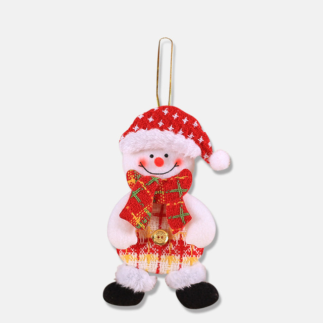 2019 New Small dolls Christmas tree decorations pendant Christmas day children's small gifts hanging lanyard dolls 21