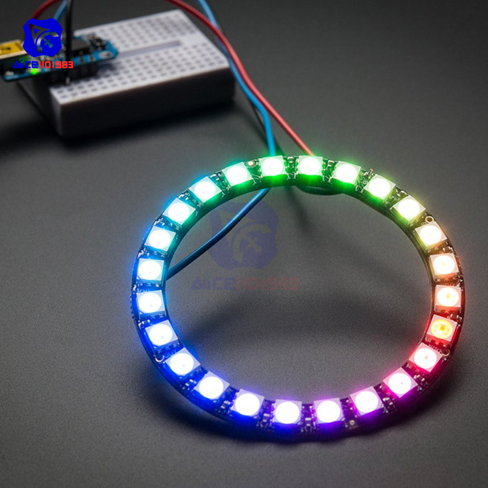 Diymore WS2812 5050 RGB LED Ring Lamp Light With Integrated Drivers 24 Bit RGB LED For Arduino