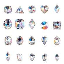 100 шт k9 Большое стекло Кристальный камень прозрачные стразы