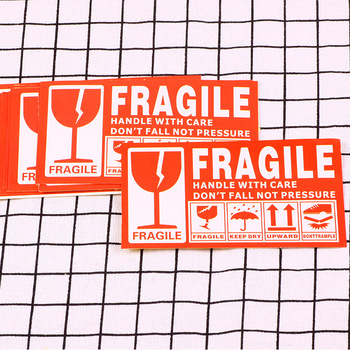 50pieces FRAGILE Warning Label Sticker Shipping Express Stickers - discount item  20% OFF Stationery Sticker